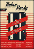 Vector retro party poster Stock Photography
