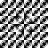 Vector Retro Pattern. In black and white. Can be used as is or seamlessly tiled for a background stock illustration