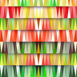 Vector retro pattern of geometric shapes. Colorful mosaic backdr Royalty Free Stock Image
