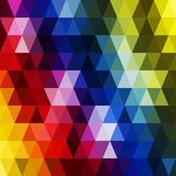 Vector retro pattern of geometric shapes. Colorful mosaic backdr Royalty Free Stock Photos