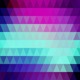 Vector retro pattern of geometric shapes. Colorful mosaic backdr Stock Photography