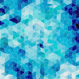 Vector retro pattern of geometric shapes. Colorful mosaic banner Stock Images