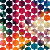 Vector retro pattern of geometric shapes. Colorful mosaic banner Royalty Free Stock Photo