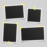 Vector retro photo frame set. Royalty Free Stock Photos