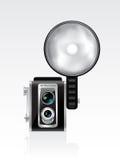 Vector retro photocamera Stock Photos