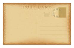 Vector retro postcard with vintage frame. Grunge paper post card. Retro postcard with vintage frame. Grunge paper post card. Isolated on white vector stock illustration