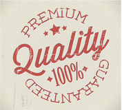 Vector retro premium quality stamp Stock Photography