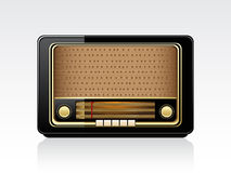 Vector retro radio Royalty Free Stock Photos