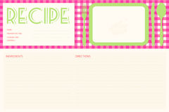 Vector retro recipe card layout vector illustration