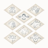 Vector retro sale stamp. Royalty Free Stock Image