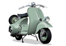 Vector retro scooter vector illustration