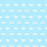 Vector retro seamless clouds backgroung Royalty Free Stock Images