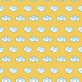 Vector retro seamless clouds backgroung Royalty Free Stock Photos