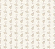 Vector Retro seamless pattern. Beige background Stock Photography