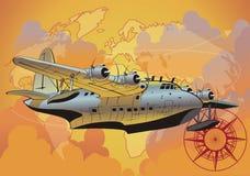 Vector retro seaplane Royalty Free Stock Photo