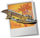 Vector retro seaplane Stock Image