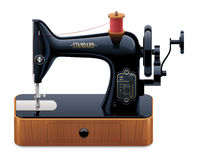 Vector retro sewing machine Stock Photos