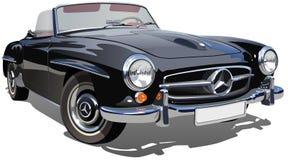 Vector retro sportwagen Stock Afbeelding
