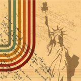 The vector retro Statue of Liberty background Royalty Free Stock Image