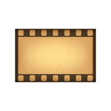 Vector retro style film frame. Vintage frame for your design. Isolated on white background. Royalty Free Stock Photo