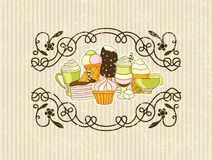 Vector retro style grunge food background Royalty Free Stock Photos