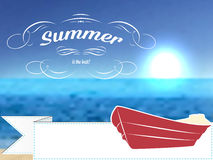 Vector retro summer postcard or poster, background Royalty Free Stock Photos