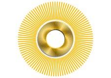 Vector retro sun. Retro sun design in white background, vector Royalty Free Stock Photos
