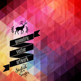 Vector retro supply, hipster background. Styled badges, signs.Ba Royalty Free Stock Photos