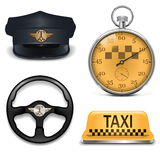 Vector Retro Taxi Icons Royalty Free Stock Photos
