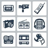 Vector retro technology icons set #2. Vector isolated retro technology icons set #2 Stock Photography