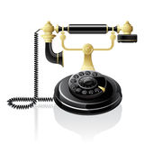 Vector retro telephone Royalty Free Stock Image