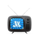 Vector retro television Stock Photo