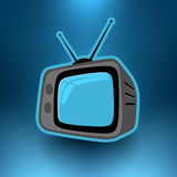 Vector Retro Television Royalty Free Stock Photo