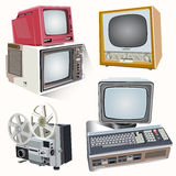 Vector retro television on soft light background Stock Photo