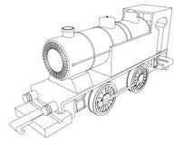 Vector retro train, vintage  vector symbol Stock Image