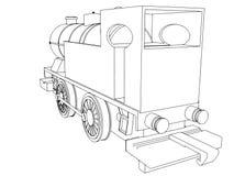 Vector retro train, vintage  vector symbol Royalty Free Stock Photography