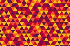 Vector retro triangle tiles pattern, five hot colors royalty free illustration