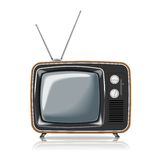 Vector Retro TV Stock Photo