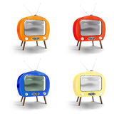 Vector retro tv set Royalty Free Stock Images