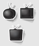 Vector retro tv set. Set of  retro televisions of different forms Stock Photos
