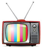 vector retro tv set stock illustration