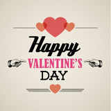 Vector retro valentines card Royalty Free Stock Photography