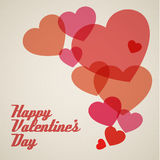 Vector retro valentines card Royalty Free Stock Photo