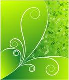 Vector retro verde del flujo Fotos de archivo libres de regalías