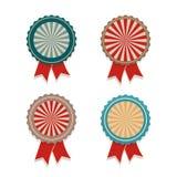 Vector retro vintage ribbon award Stock Images