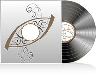 Vector of retro vintage vinyl record Stock Image