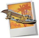 Vector retro watervliegtuig Stock Afbeelding