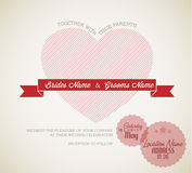 Vector Retro Wedding invitation Stock Photo