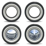 Vector Retro Wheels Royalty Free Stock Photography