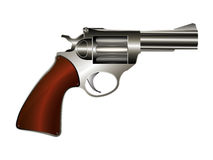Vector revolver. Revolver,  drawing over white background Stock Photos